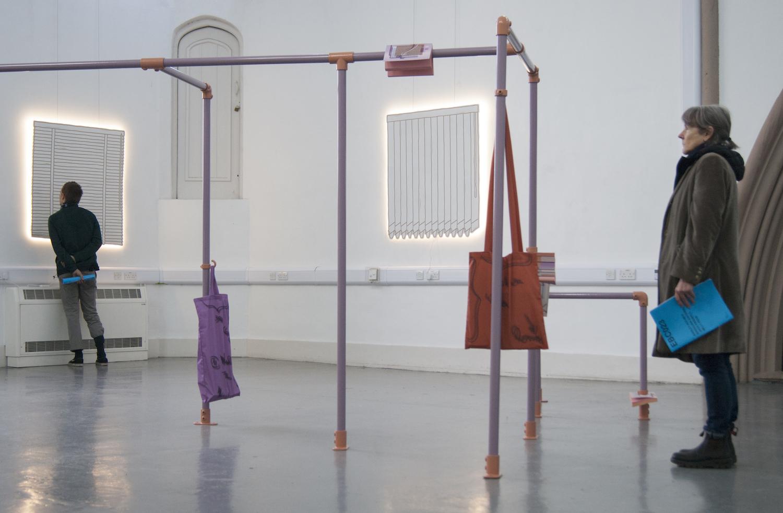 Milly Peck, Curtains At Dawn, 2019. Installation view. East Bristol Contemporary, Bristol, UK. Photographer: Karanjit Panesar.