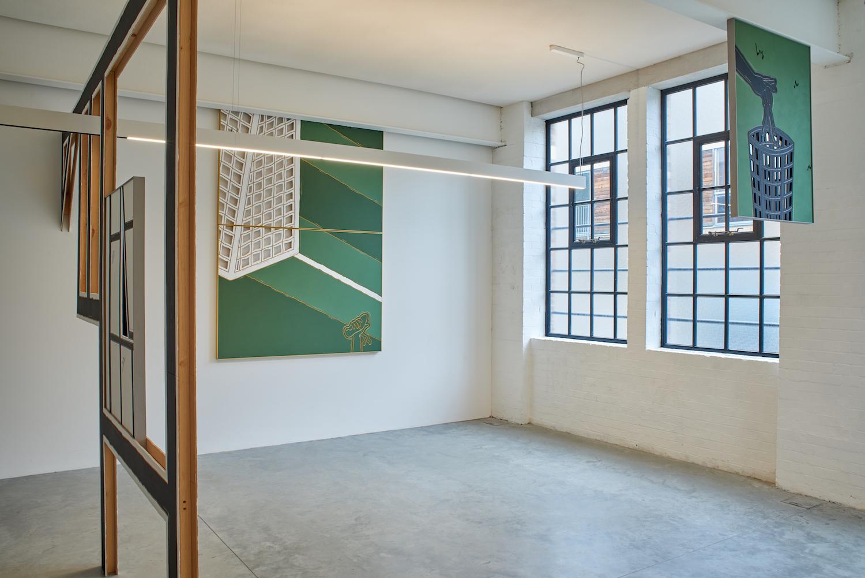 Milly Peck, LOUD KNOCK, 2017. Installation view. Matt's Gallery, London, UK.Milly Peck, LOUD KNOCK, 2017. Installation view. Matt's Gallery, London, UK.