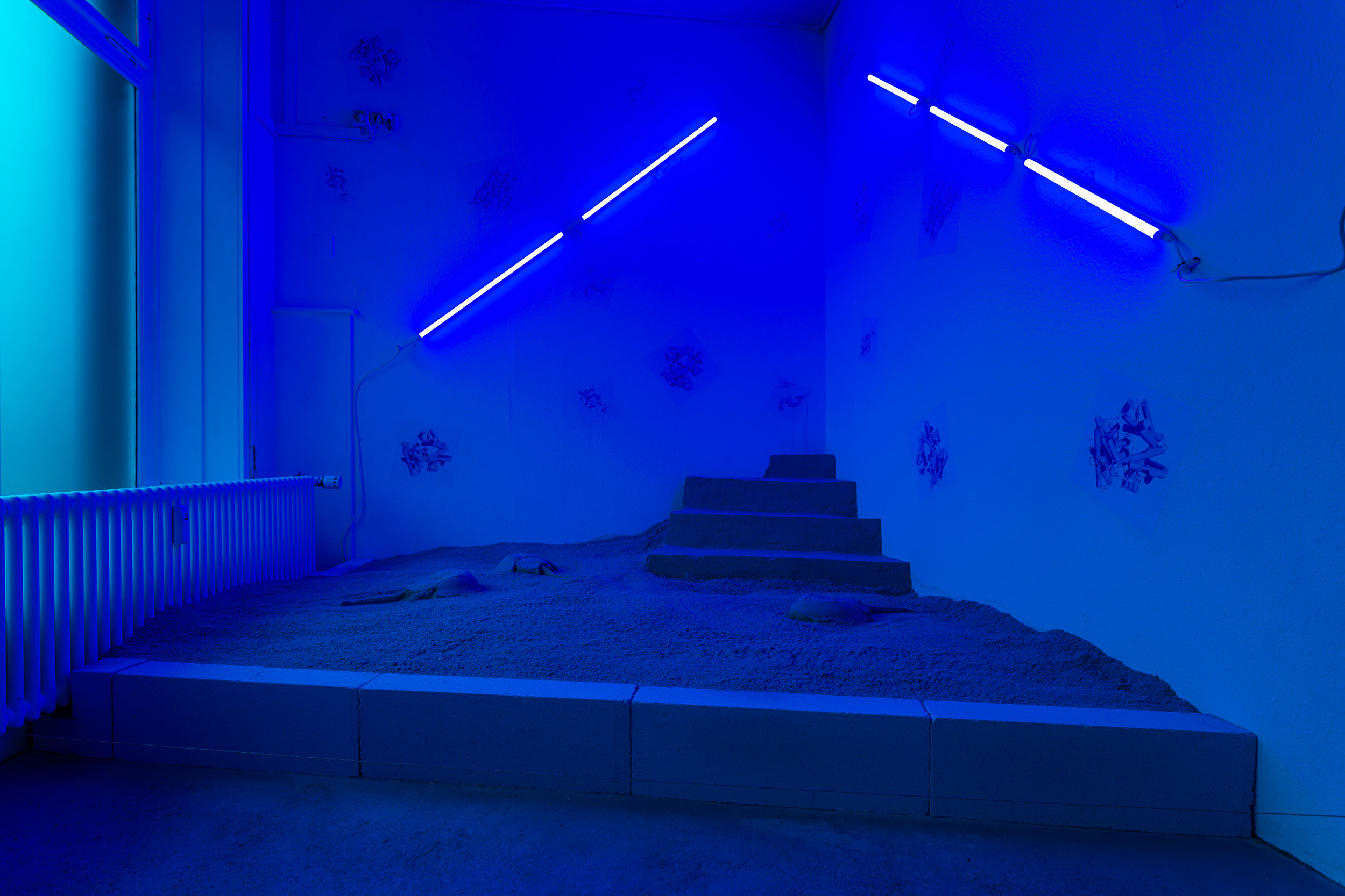 Nadim Abbas, Blue Noon, 2017. Multimedia installation. Dimensions variable. Courtesy of Last Tango, Zurich, CH.
