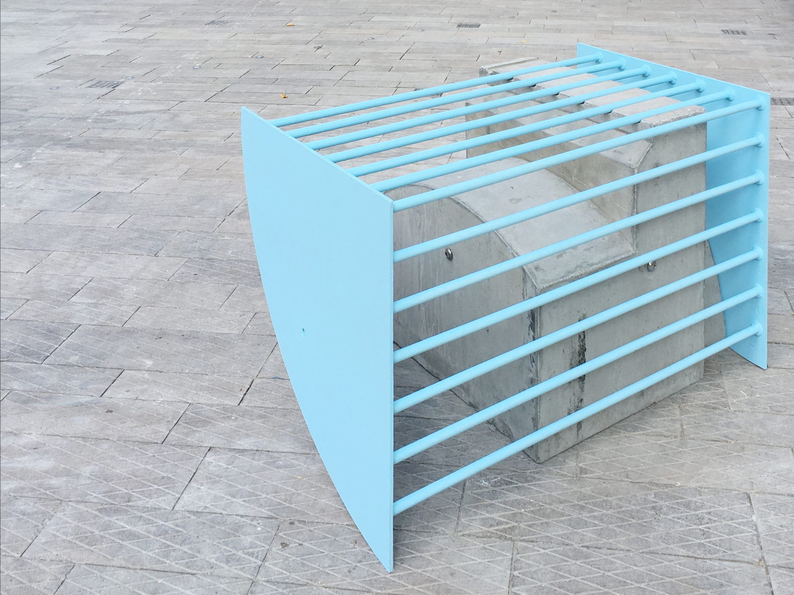 Nadim Abbas, P-SCAPE, 2018. Public sculpture in steel and concrete. Dimensions variable. Installation view. Tai Kwun Contemporary, Hong Kong, CN.