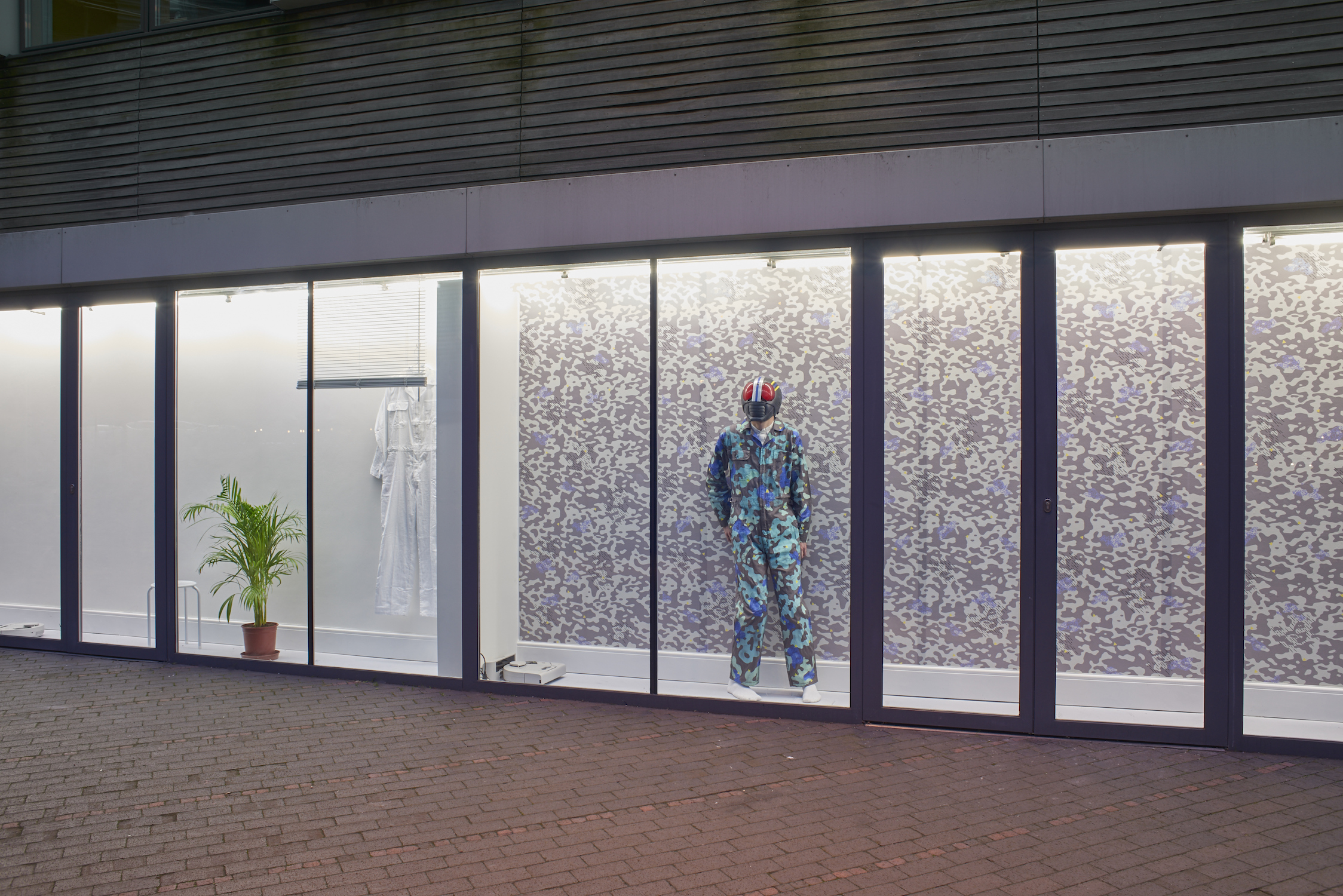 Nadim Abbas, Camoufleur, 2017. Mixed media installation and performance. Dimensions variable. Installation view. VITRINE, London. Photographer: Jonathan Bassett.