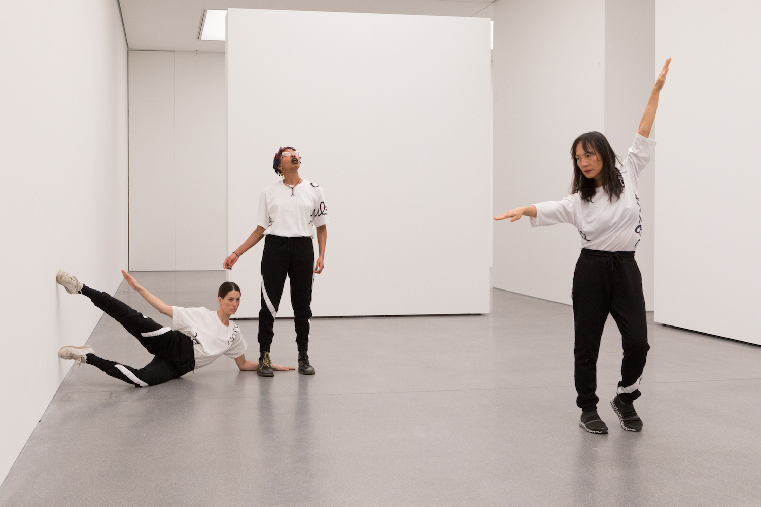 Nicole Bachmann, or what is, 2019. Performance. Performed by Patricia Langa, Jia-Yu Corti, Legion Seven. Bündner Kunstmuseum, Chur, CH.