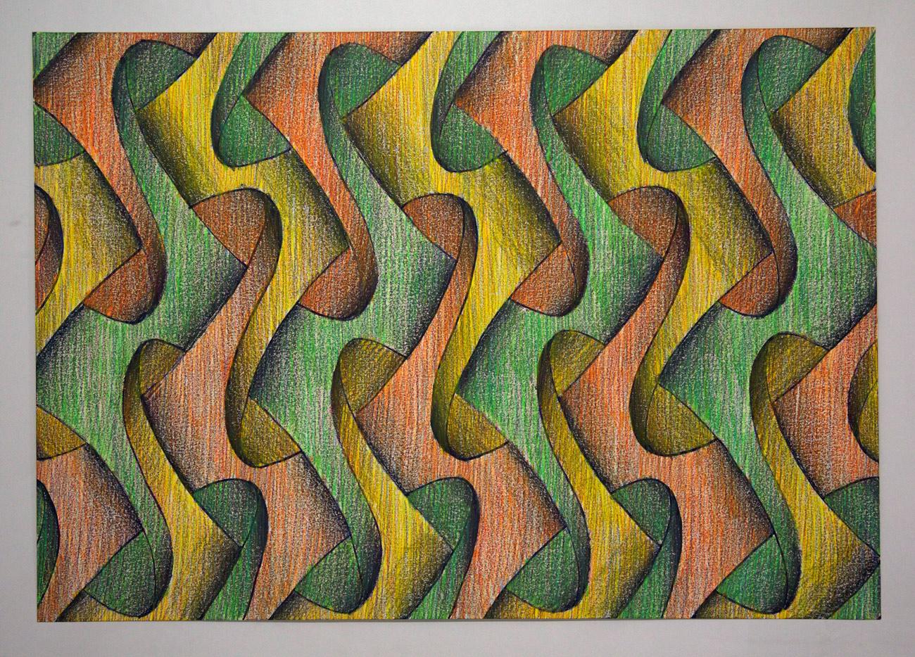 Sam Porritt, Emperors New Clothes, 2016. Brush, ink, wax crayon on paper. 100 x 70 cm.
