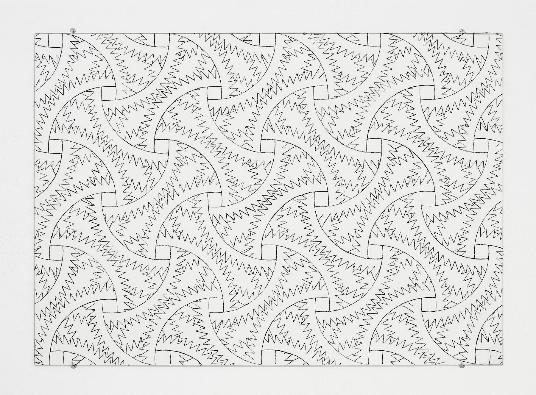 Sam Porritt, Going Nowhere IV, 2016. Brush and ink on paper. 100 x 70 cm.