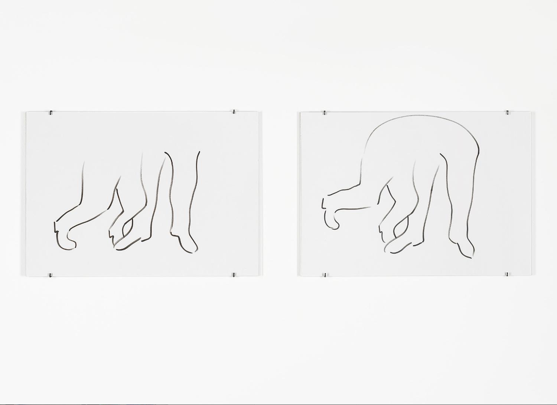 Sam Porritt, We're Tripping Myself Up, 2012. Pigment ink on paper. 42 x 29.7 cm.