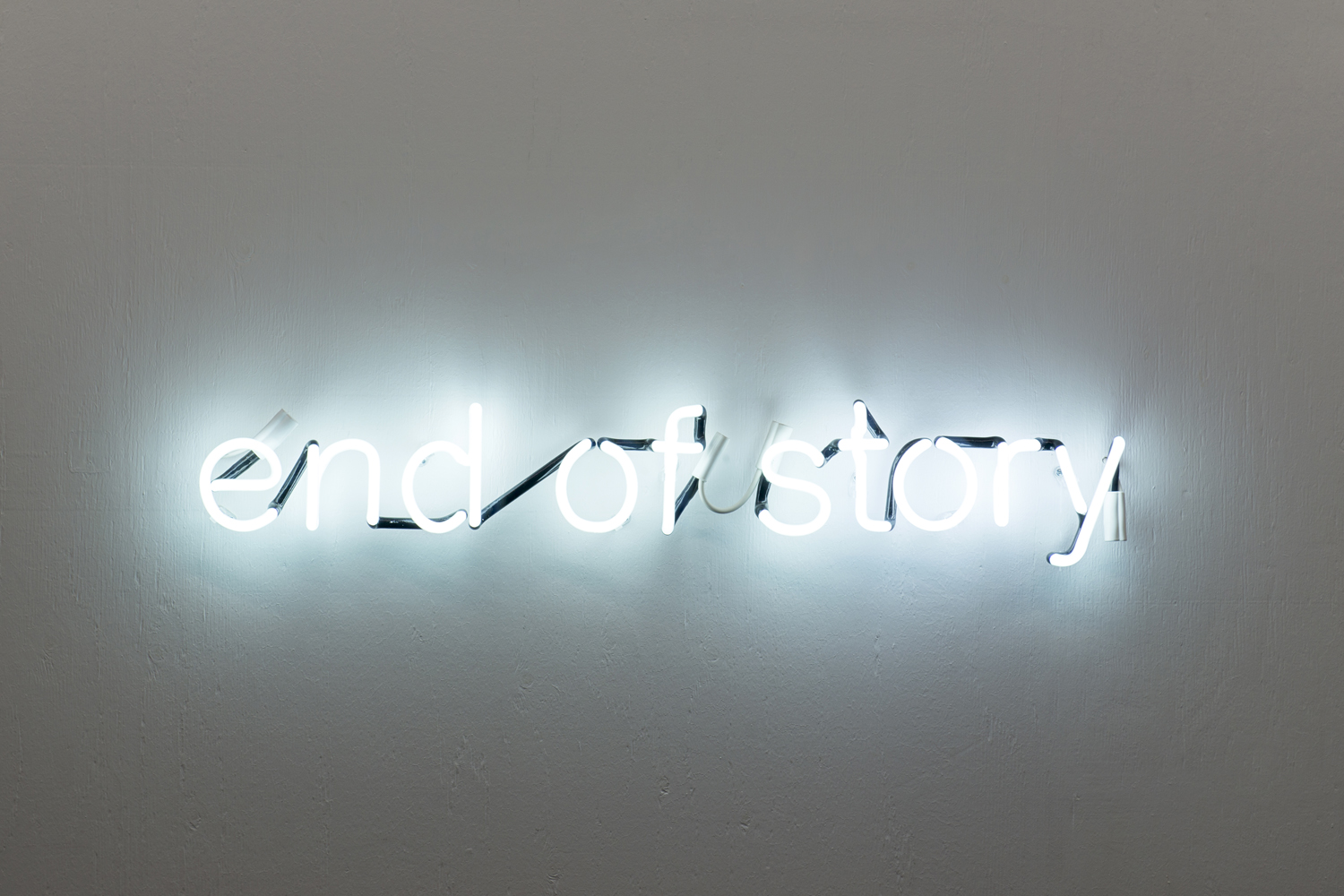 Tim Etchells, End of Story, 2012. Neon. 95 x 17.5 cm. Edition of 3 (1 AP). Photographer: Nici Jost.