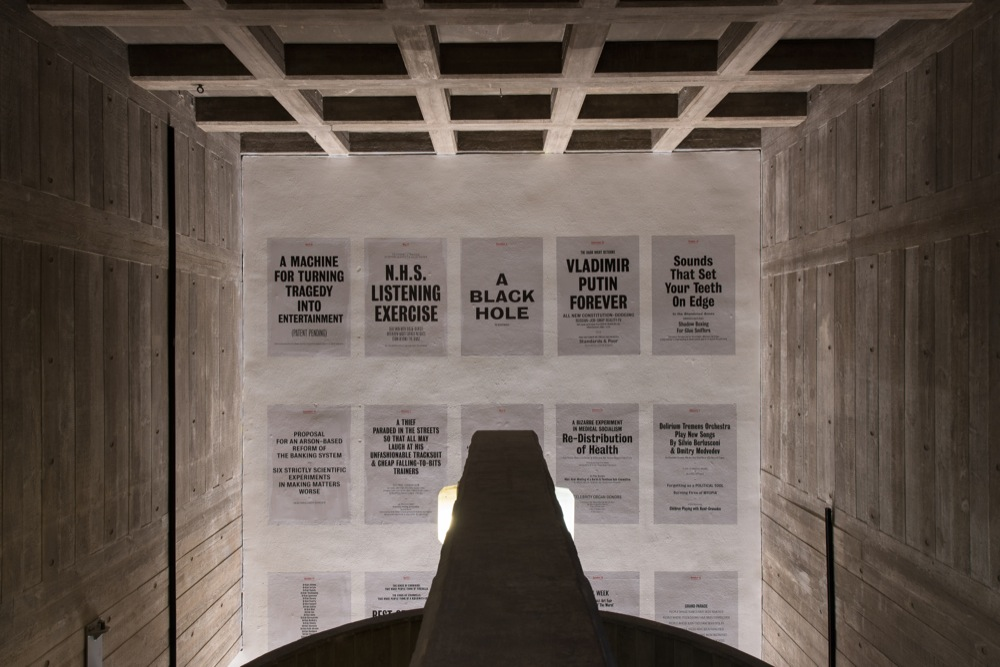 Tim Etchells, Vacuum Days, 2014-15. Set of 365 statements on A0 flyposting paper. Dimensions Variable. Edition of 3 (+1 AP). Courtesy of Hayward Gallery, London, UK.