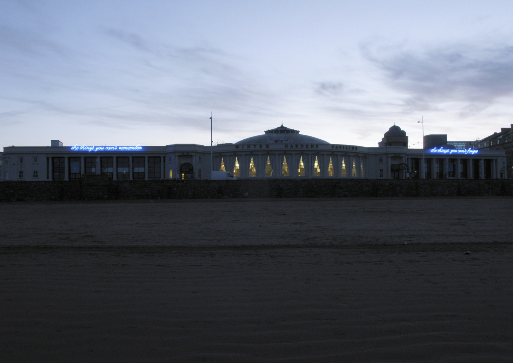 Tim Etchells, Winter Piece, 2010. Installation view. Situations for Wonders of Weston, Weston Super Mare, UK.