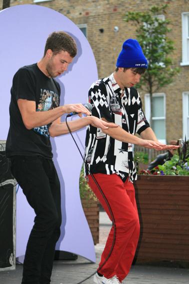 The Stage has Eyes, 2012. Festival. VITRINE, London. Bermondsey Square.