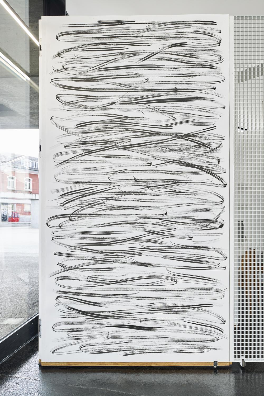 Sam Porritt, Untitled, 2016. Ink on paper, 286 x 150 cm. Photographer Mark Niedermann.