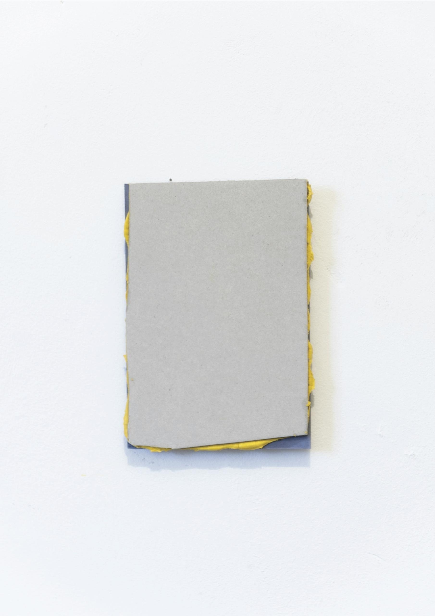 Kriz Olbricht, sandwich, 2015. Oil, cardboard. 14.5 x 21 cm.