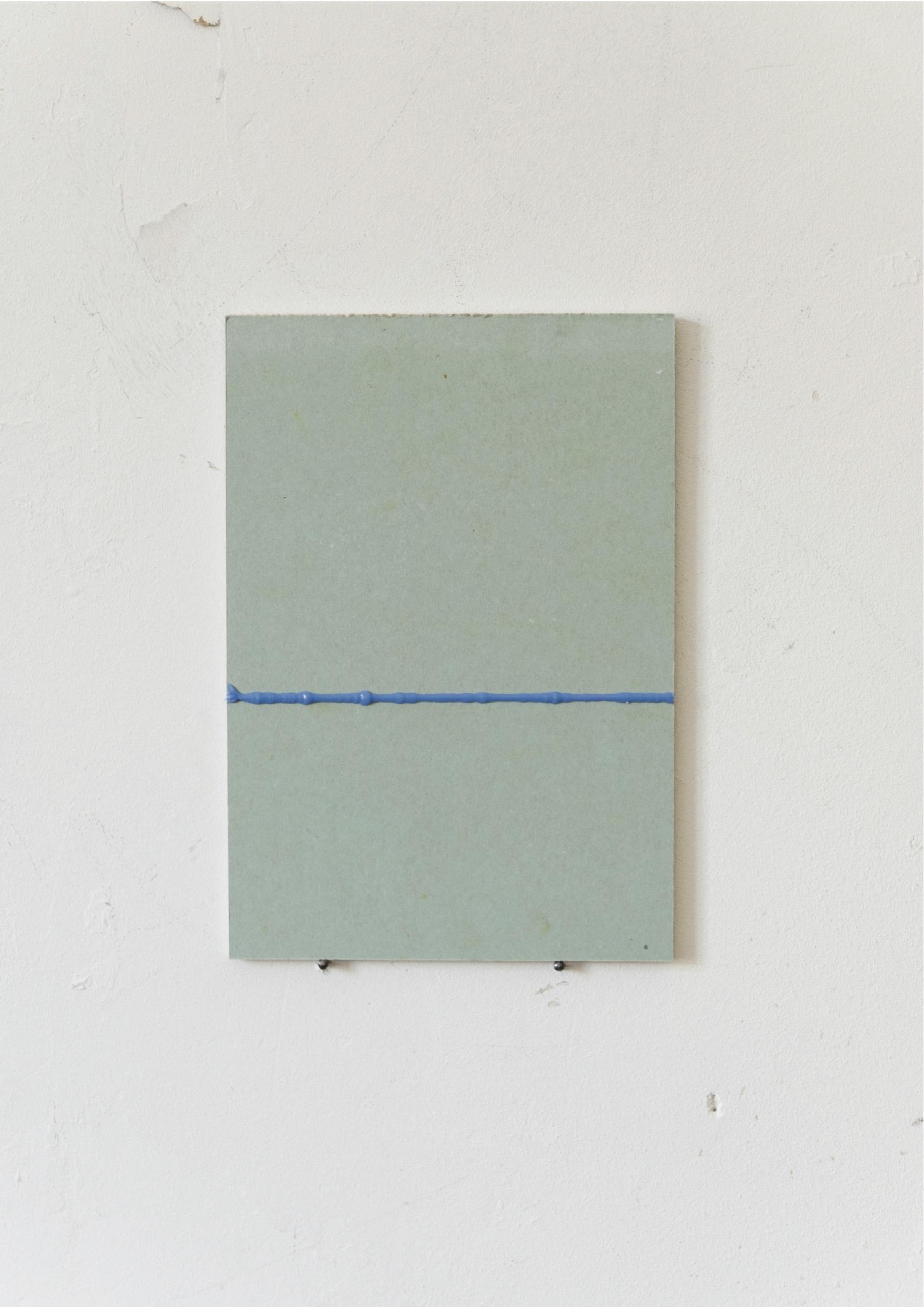 Kriz Olbricht, painting, 2016. Plasterboard, aluminum profiles, galvanized steel sheet, oil. 14,5 x 21 cm.