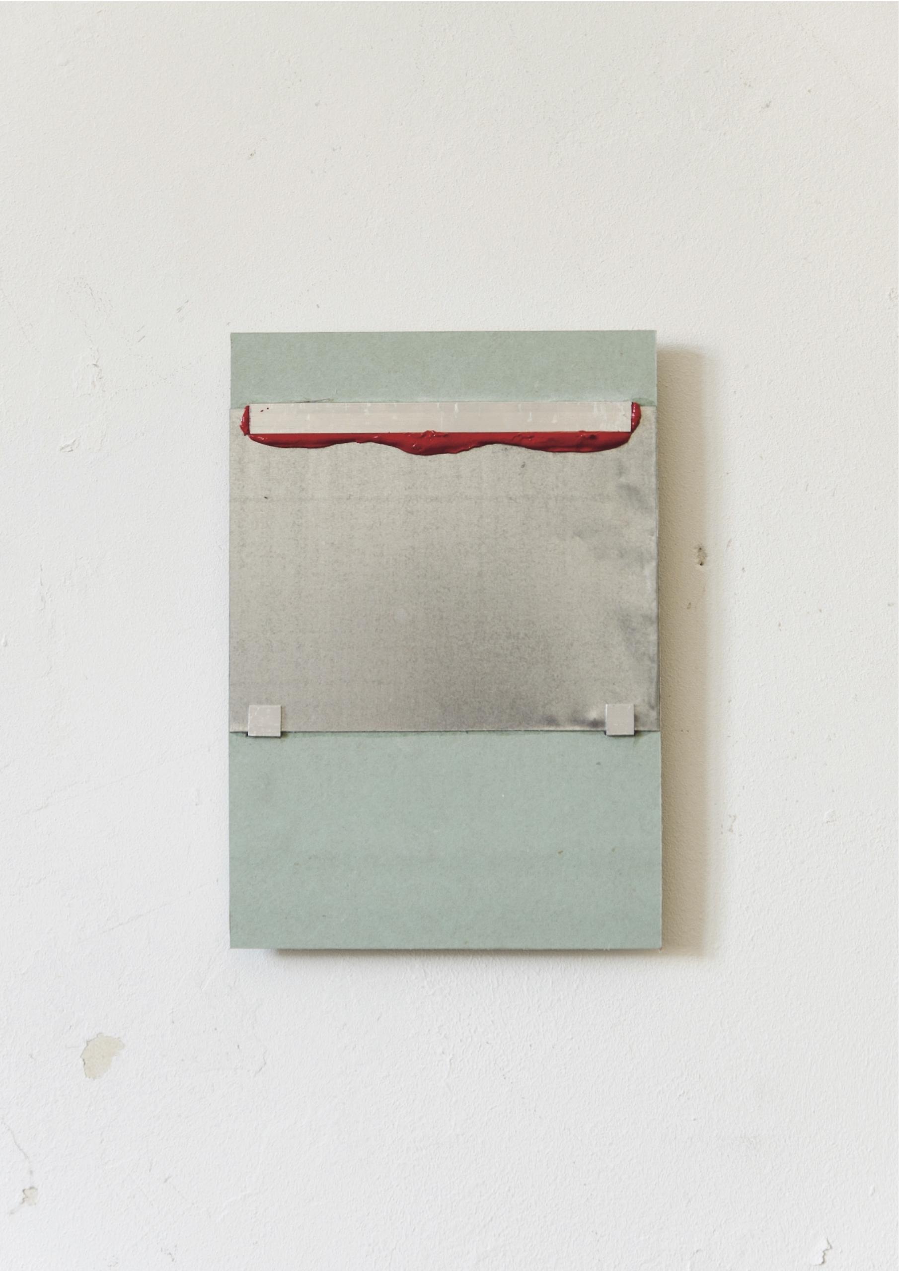 Kriz Olbricht paintings, 2016. Plasterboard, aluminum profiles, galvanized steel sheet, oil. 14,5 x 21 cm.