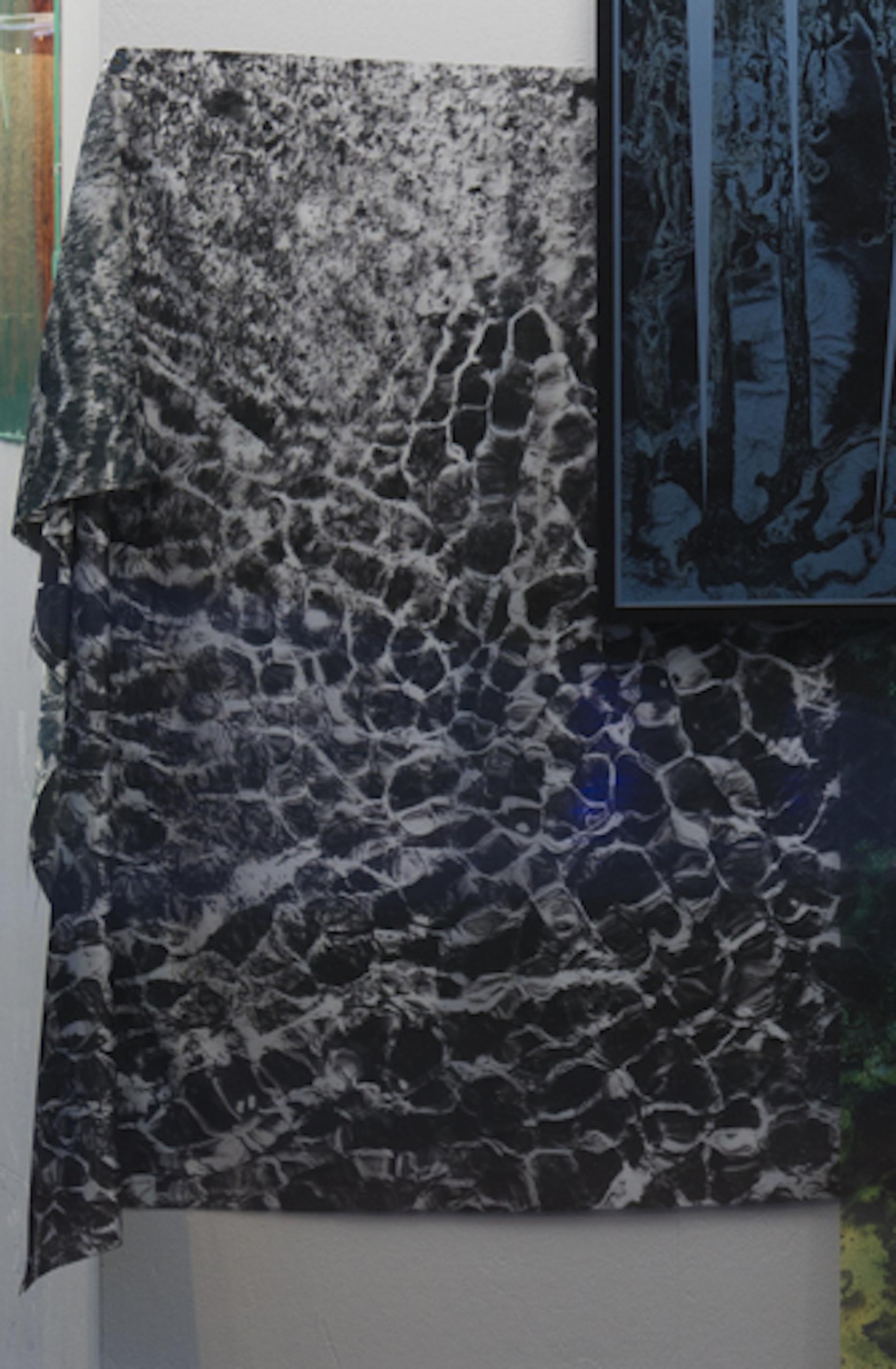 Maya Rochat, A River is a Rock (META RIVER - FLOW), 2017. Silk Sensation (poly). 200 x 140 cm.