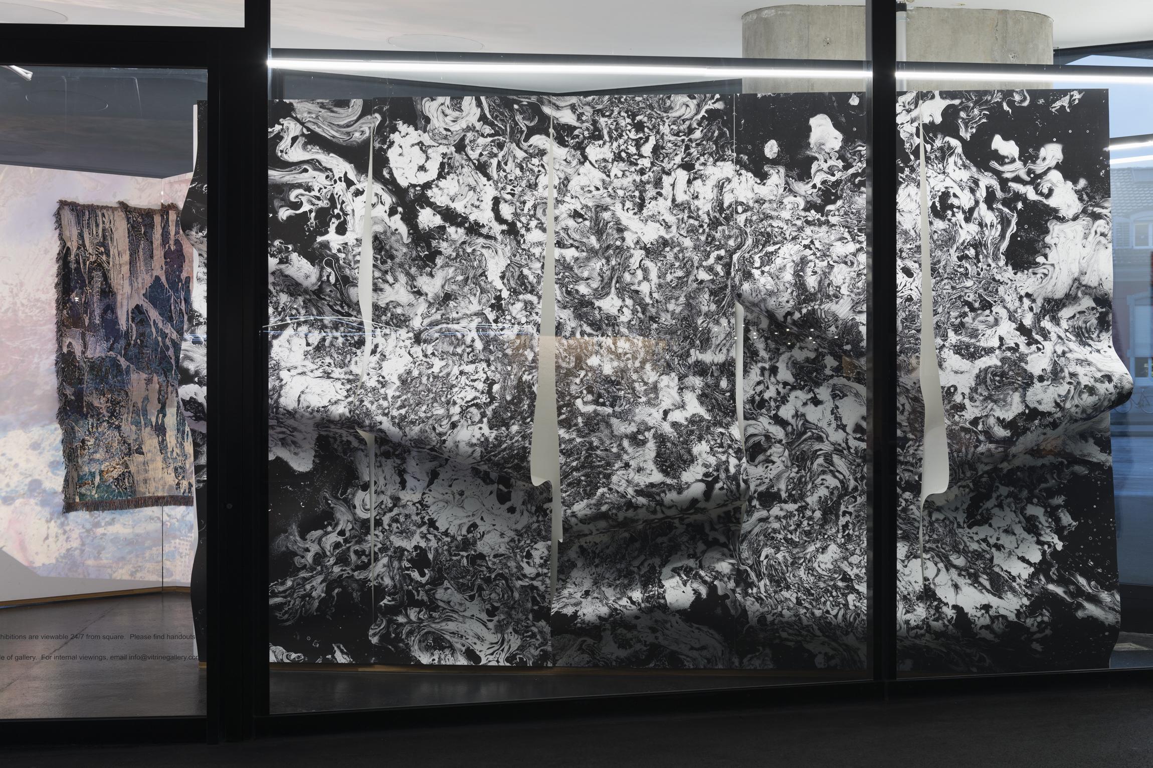 Maya Rochat, Meta Filtres (Give me Space), 2016. Inkjet on wallpaper. 300 x 230cm.