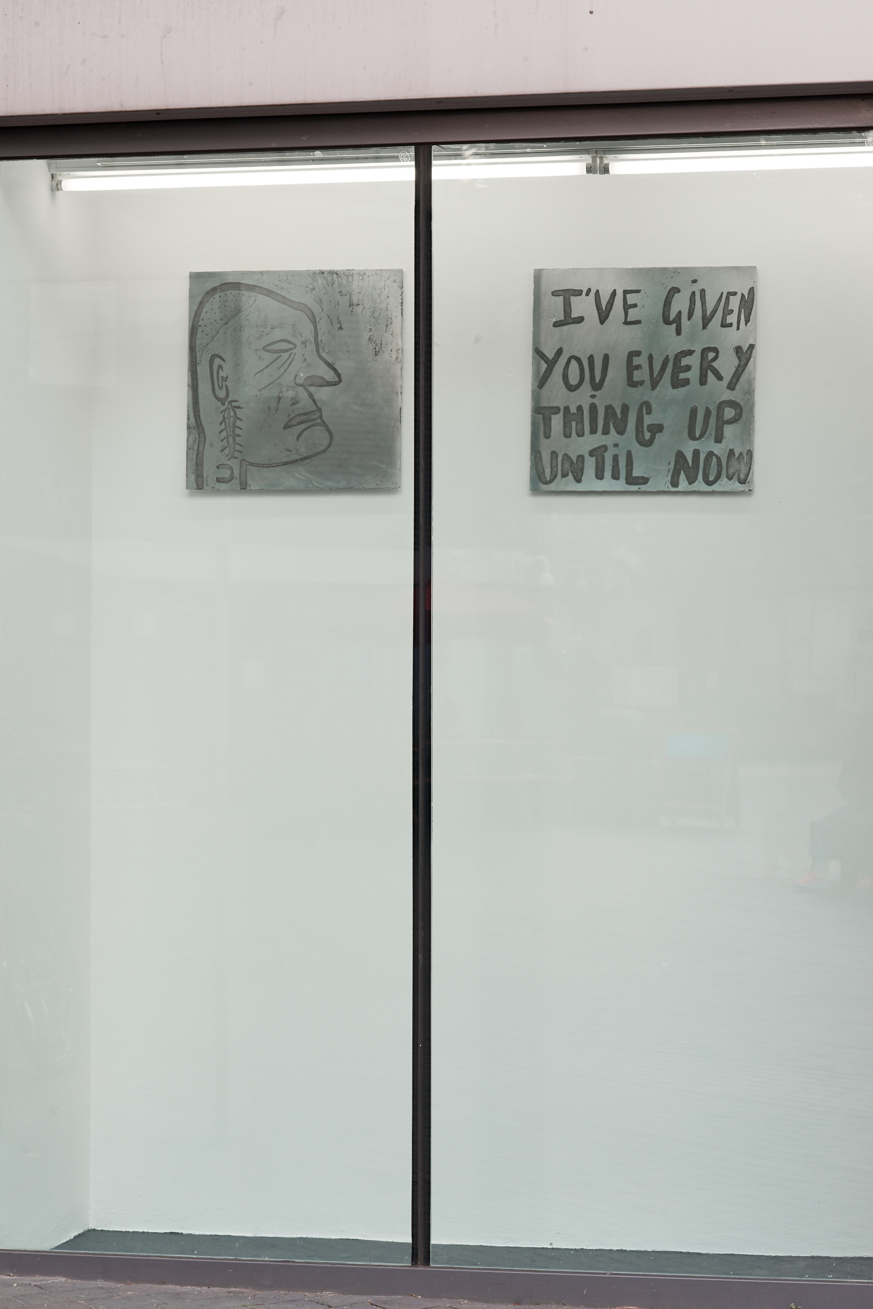 Georgia Lucas-Going, HIM, 2017. GREIF POWER PLAY, 2017. Metal etching. VITRINE London. Photographer : Jonathan Bassett.