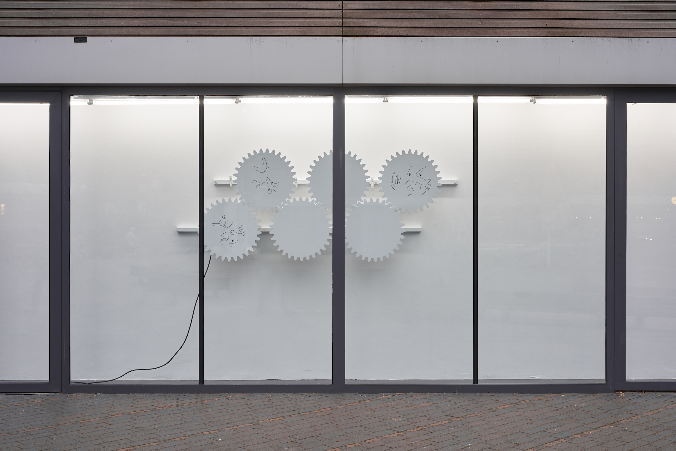 Sam Porritt, Grist To The Mill, 2016. Installation view. VITRINE, London. Photographer Jonathan Bassett.