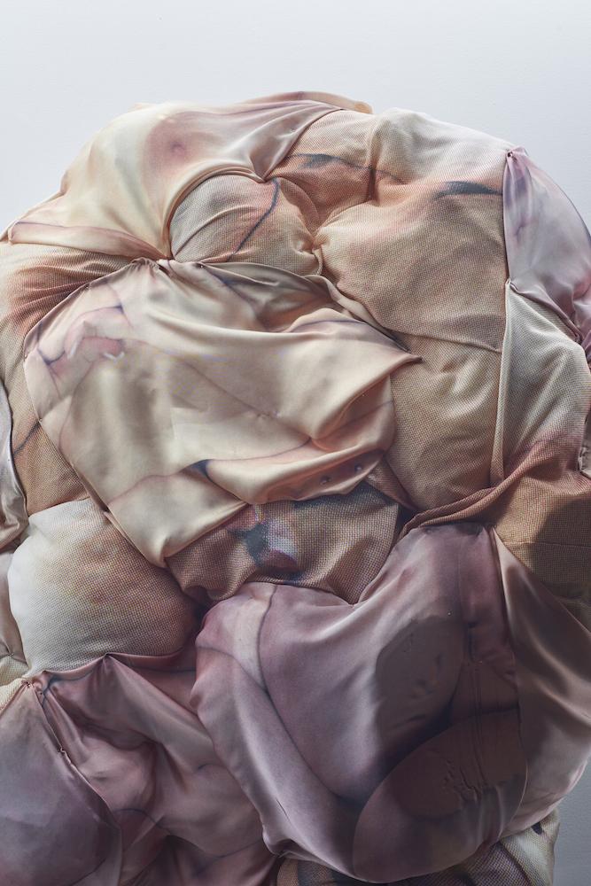 Alix Marie, Au Bonheur Des Dames, 2016. Expanding foam and dye sublimation on fabric. 90 x 170 x 65 cm. Photographer: Jonathan Bassett.
