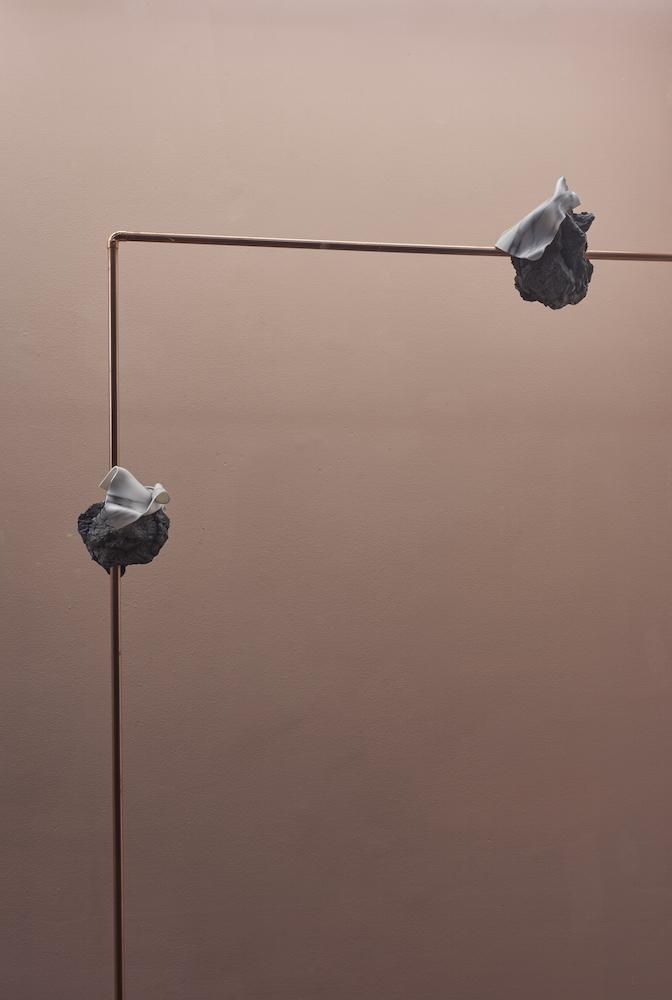 Felicity Hammond, Stone Effect, 2016. Copper, concrete, inkjet print on acrylic. 187 x 109 x 12 cm. Photographer: Jonathan Bassett.