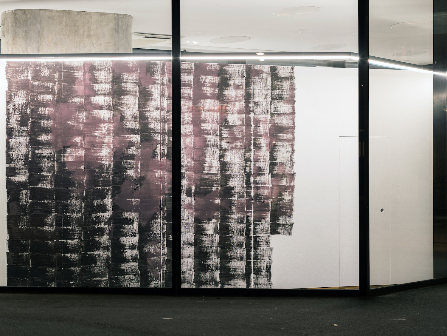 Hannah Lees, Nothing Can Ever Change, 2019. Red wine lees. Photographer: Nicolas Gysin.