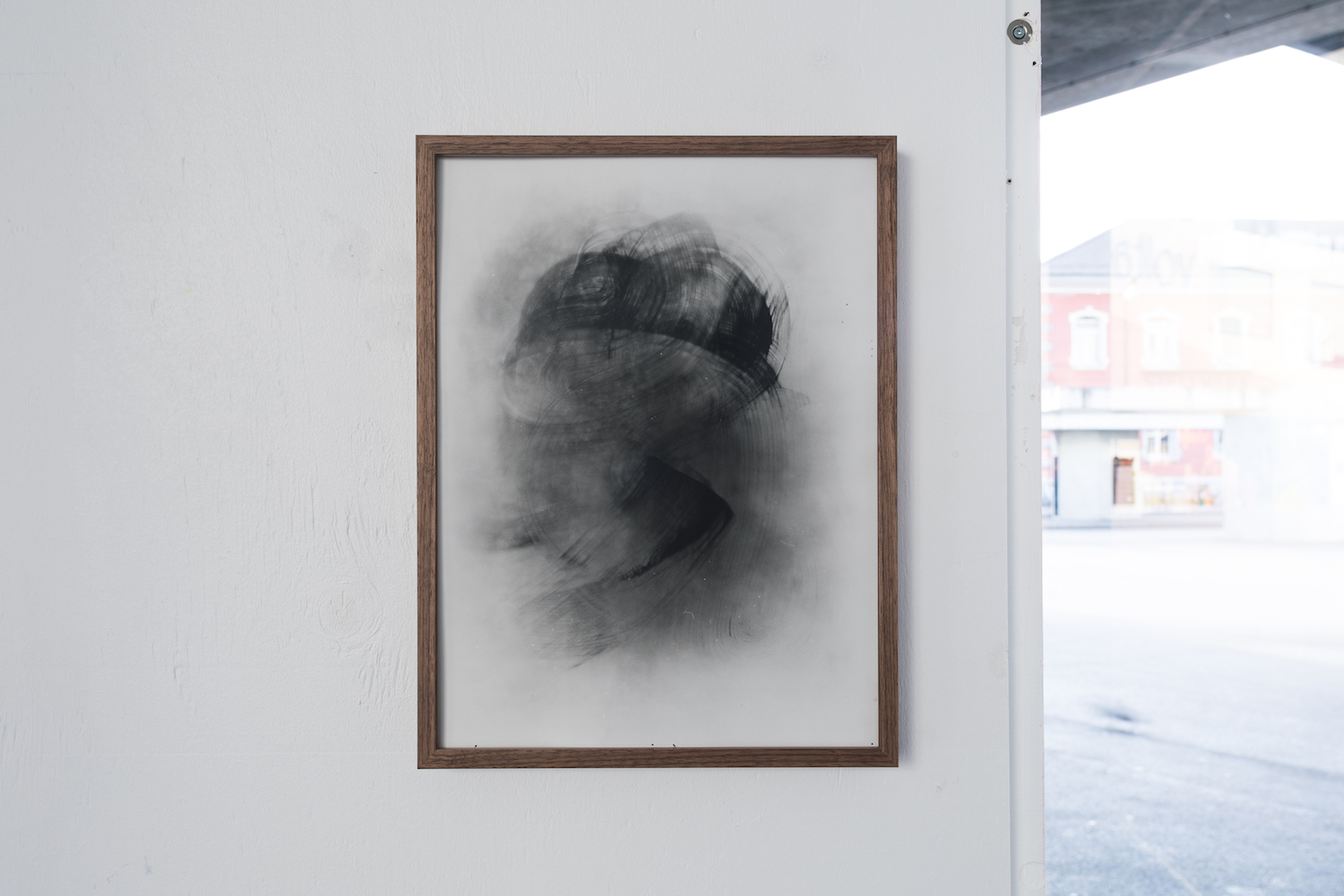 Wil Murray, Well Eel Test 3, 2019. Silver Gelatin Print on Fiber Based Paper. Framed. Exposed for between 3-4 weeks. 40 x 30 cm. Photographer: Nicolas Gysin.