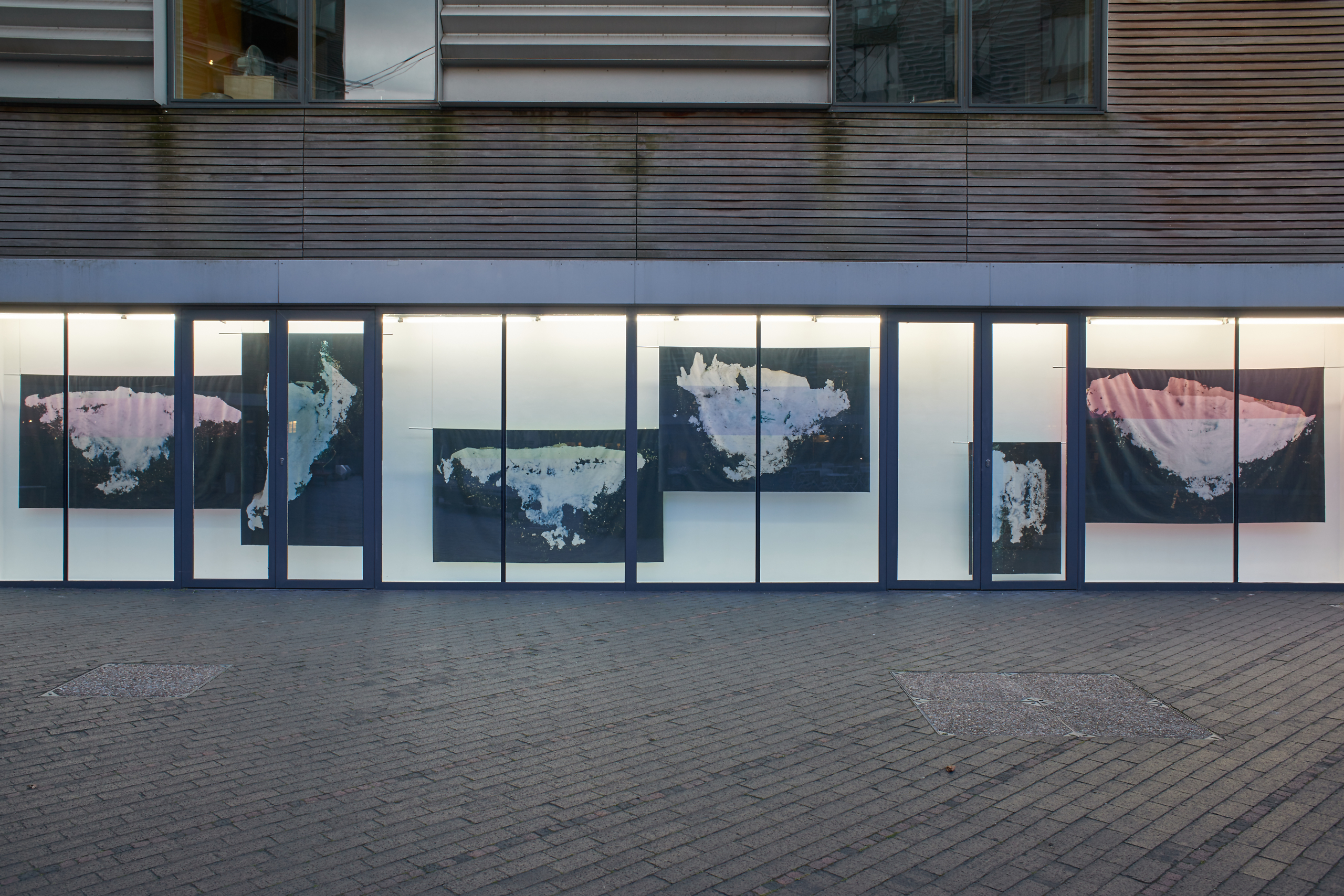Sarah Burger, New Continents, Light Lines, 2017. Installation View. VITRINE, London. Photographer : Jonathan Basset.