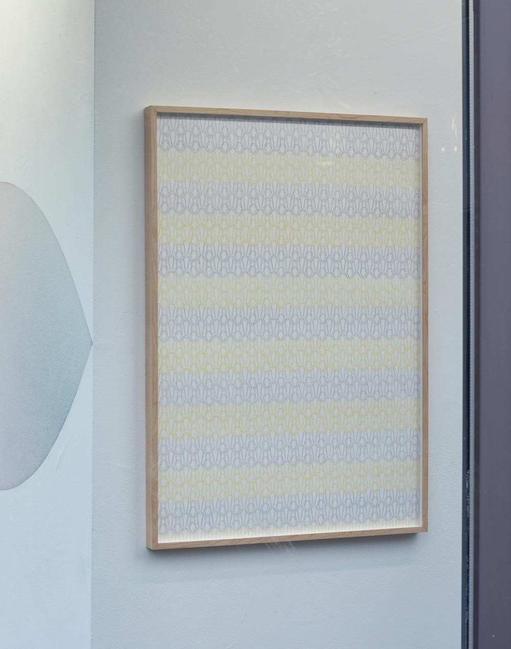 Kato Six, Striped Knitwear, 2018. Pencil on paper. 50 x 70 cm. Photographer Jonathon Bassett.
