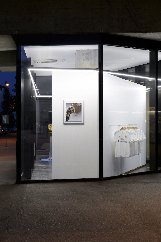 Sylvain Baumann, Justin Eagle, Raja'a Khalid, 2016, Installation view. VITRINE, Basel. Photographer Nici Jost.