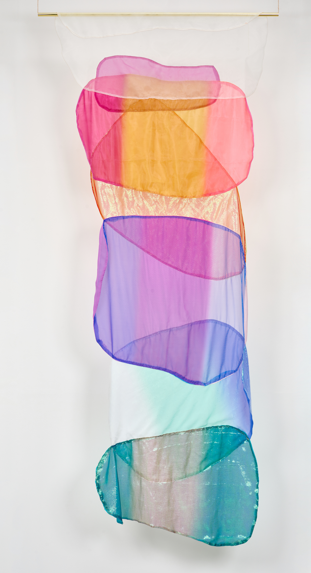 Ludovica Gioscia, Generous Oak, 2019. Fabric, thread and metal pole. 275 x 122 cm. Photographer Jonathon Bassett.