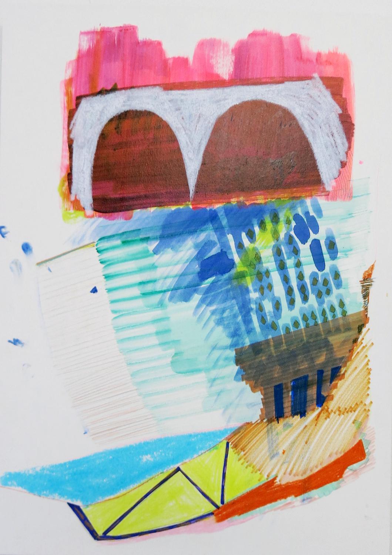 Sara Gassmann, KEBAB, 2016. Glazed ceramic. 24 x 98 x 24 cm.