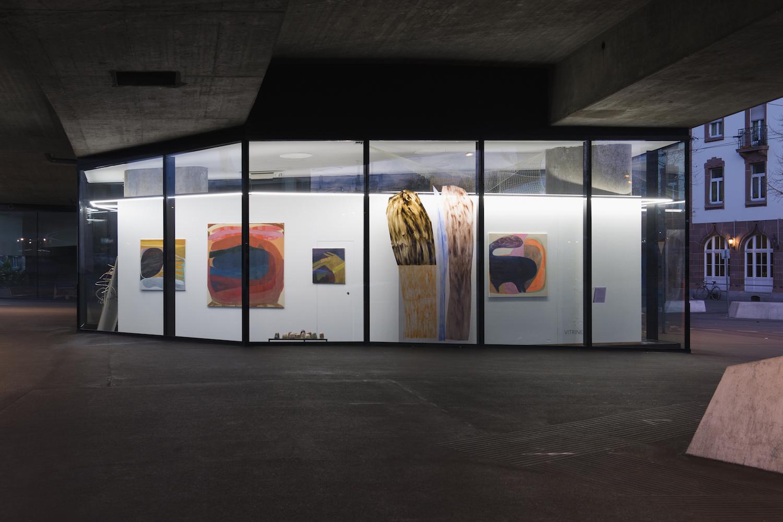 Sara Gassman, Wetterleuchten, 2016, Installation view. VITRINE, Basel. Photographer Nici Jost.
