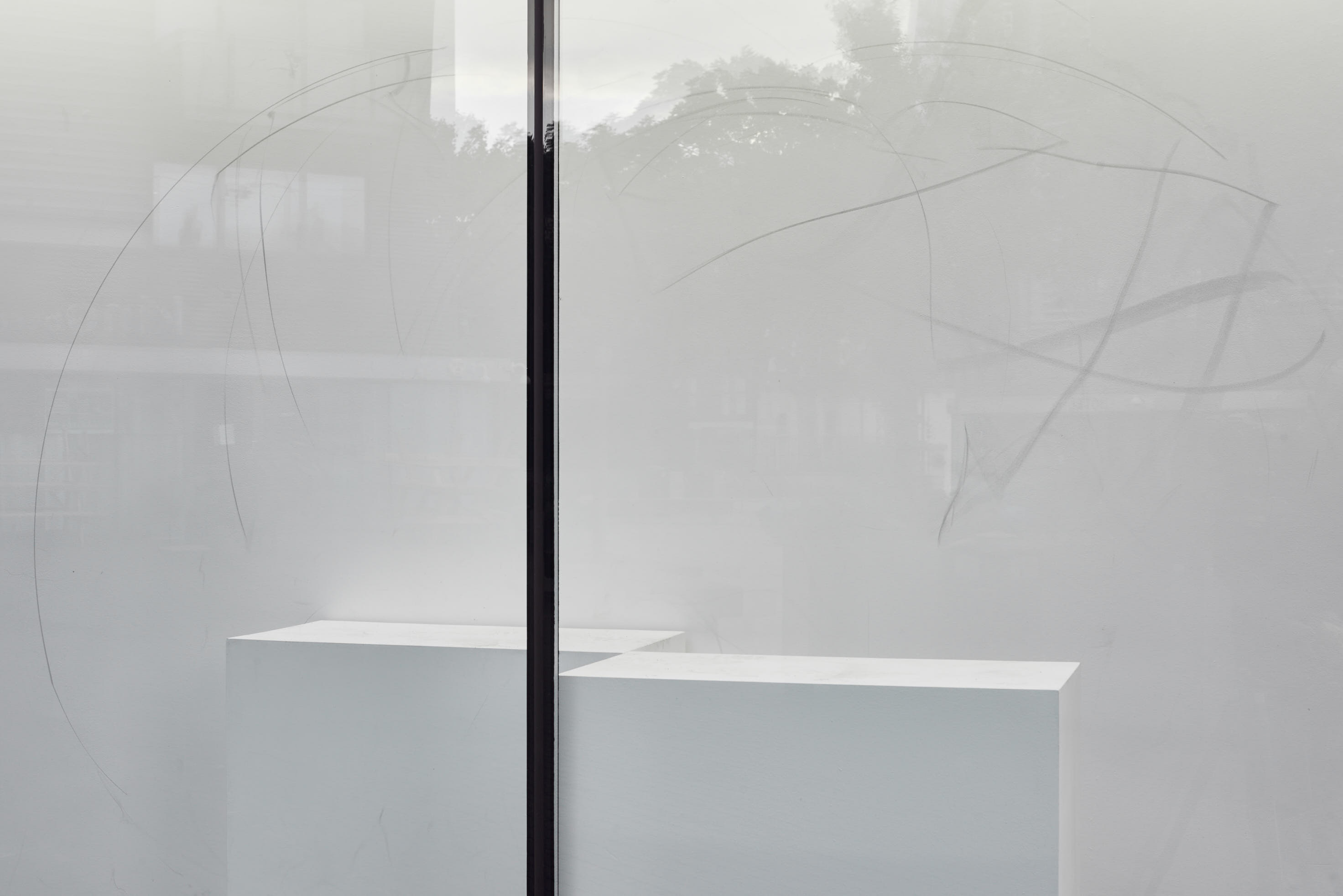 Nicole Bachmann, full stop slightly high, 2020. Installation view. VITRINE, London. Photography: Jonathon Bassett.