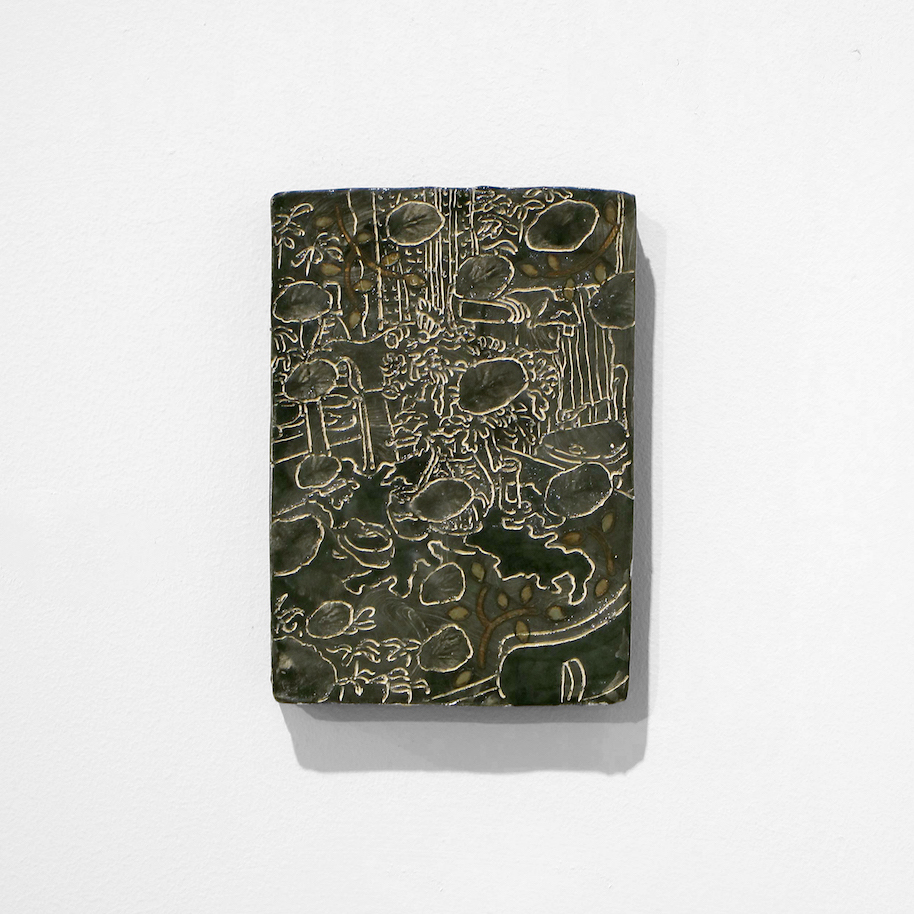 Kara Chin, Kitchen Sink, 2020. Glazed ceramic. 22 x 15 x 1 cm.