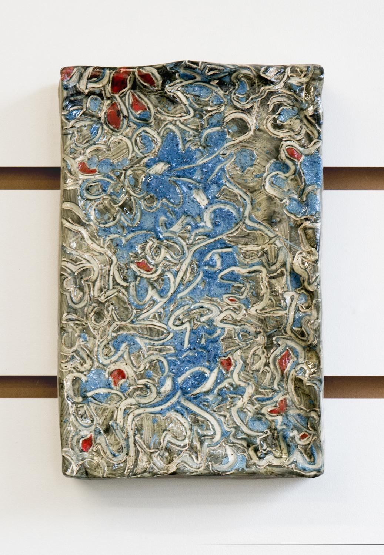 Kara Chin, Zoom in on the Foliage, 2020. Glazed ceramic. 20 x 15 x 1 cm.