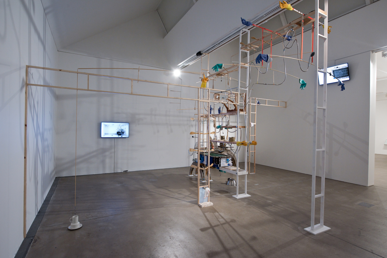 Kara Chin, Sentinent Mecha Furniture, 2020. Installation view. Baltic39, Newcastle, UK. Photography: Colin Davison.