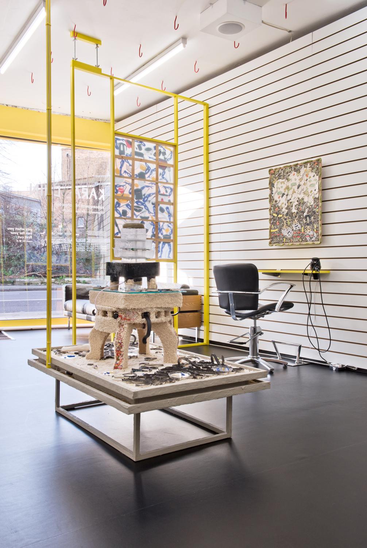 Kara Chin, Subsequent Hotchpotch, 2020. Installation view. DKUK, London, UK.