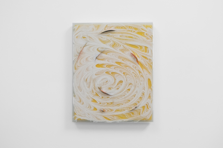 Charlie Godet Thomas, Endpaper (Charybdis), 2019. Cast rubber, wood, pigment. 35 x 32 x 2 cm.