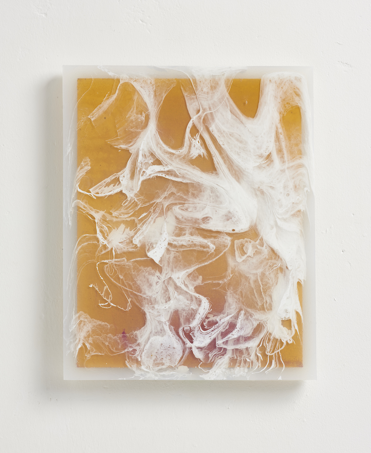Charlie Godet Thomas, Endpaper (A Hint Half Guessed), 2015. Cast rubber, wood, pigment. 29 x 23.5 x 2 cm.