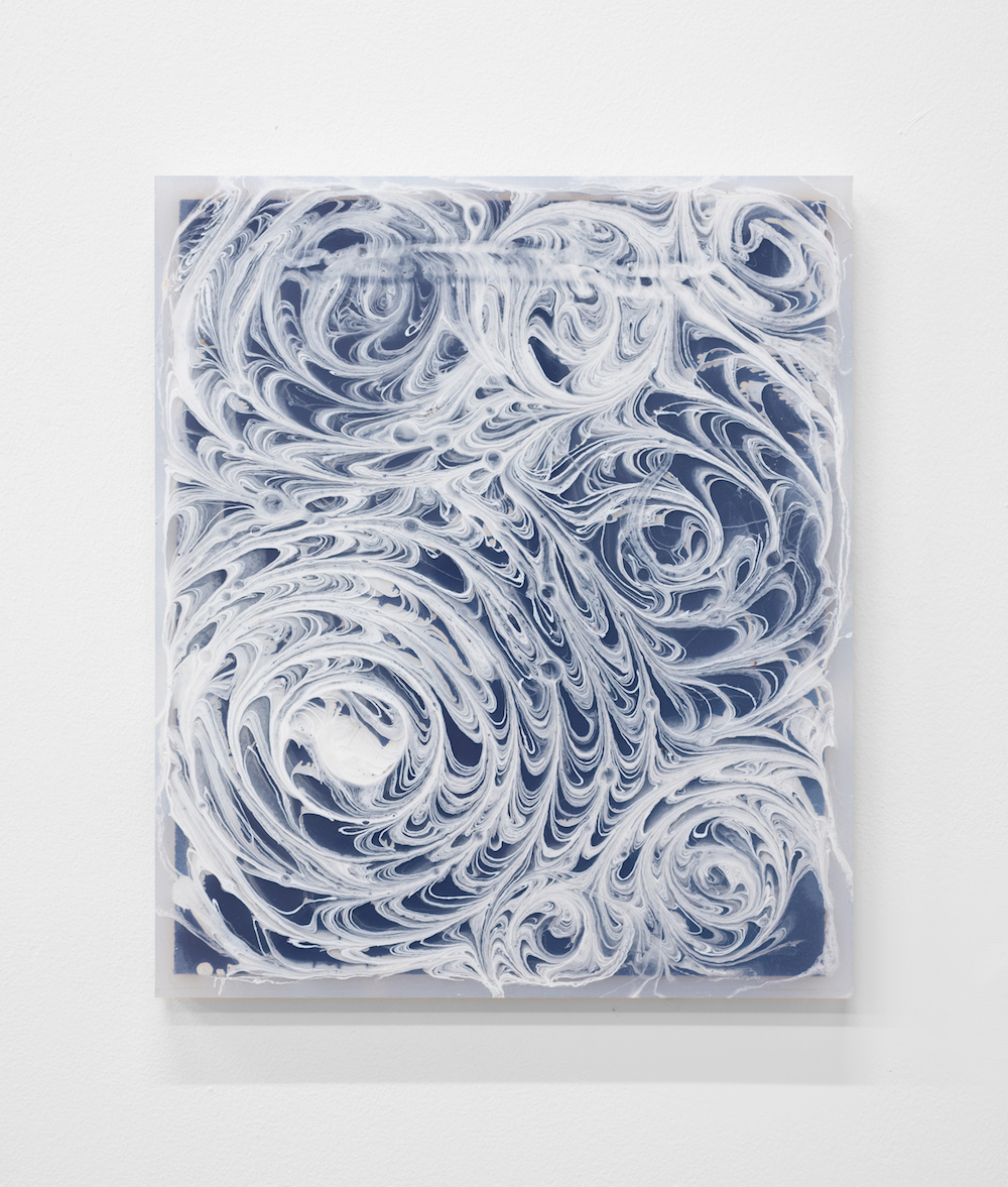 Charlie Godet Thomas, Endpaper (Delete and Close Up), 2016. Cast rubber, wood, pigment. 33 x 28 x 2 cm.