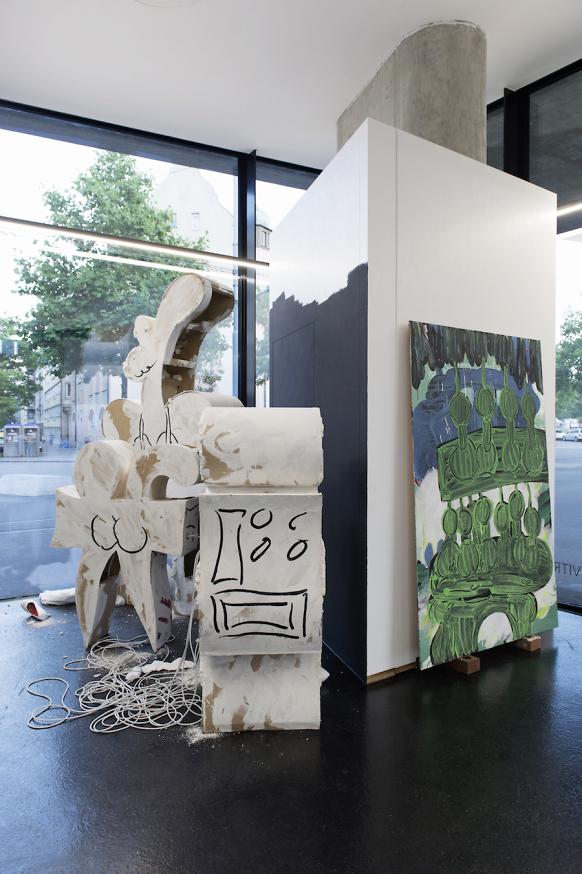 Edwin Burdis, AutoLaque, 2016. Installation view. VITRINE, Basel. Photographer Nici Jost.