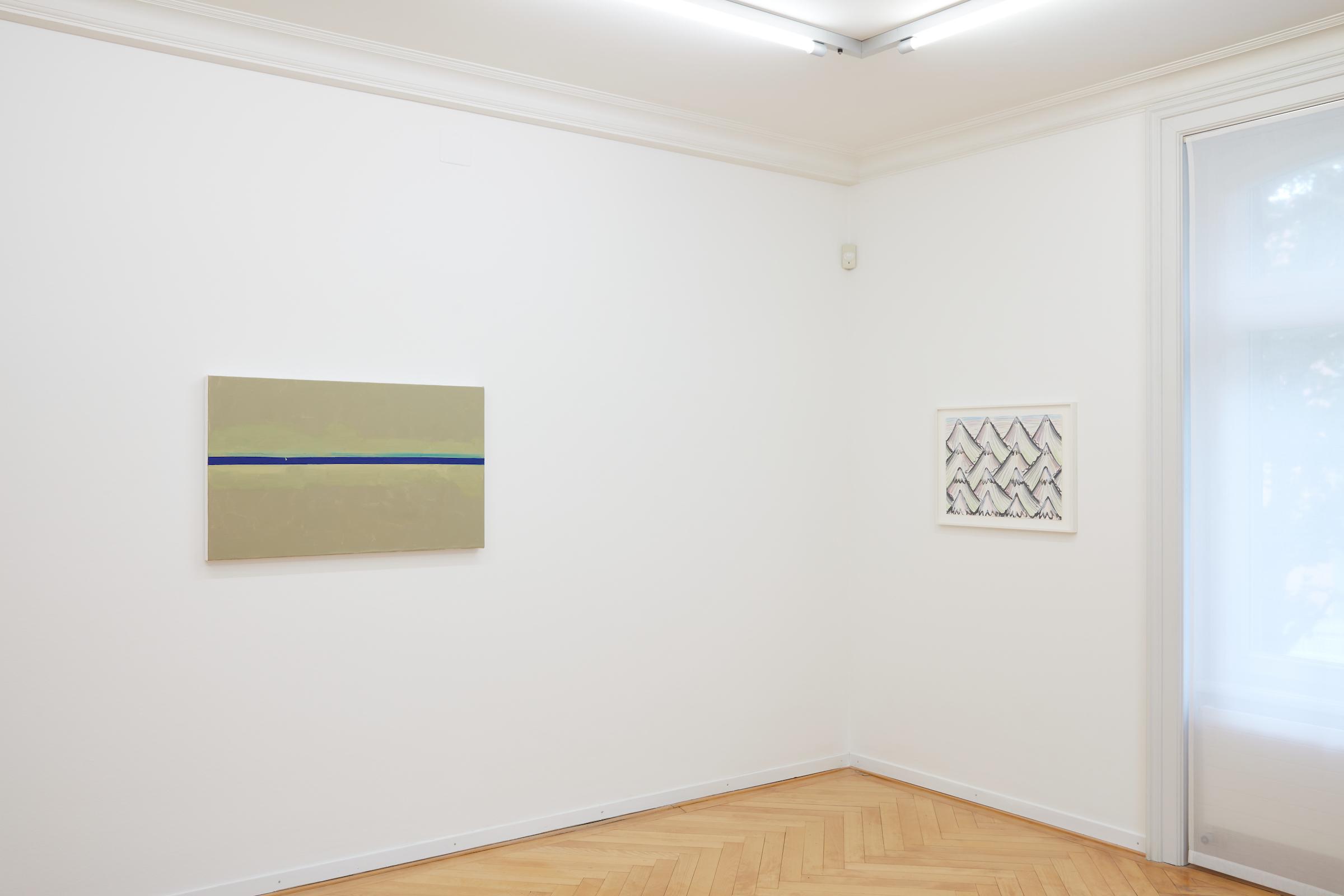 Sam Porritt, After Bob Ross: Everything is Beautiful, 2020. Installation view. Museum Im Bellpark, Kriens, CH. Photographer: Martin Stollenwerk.