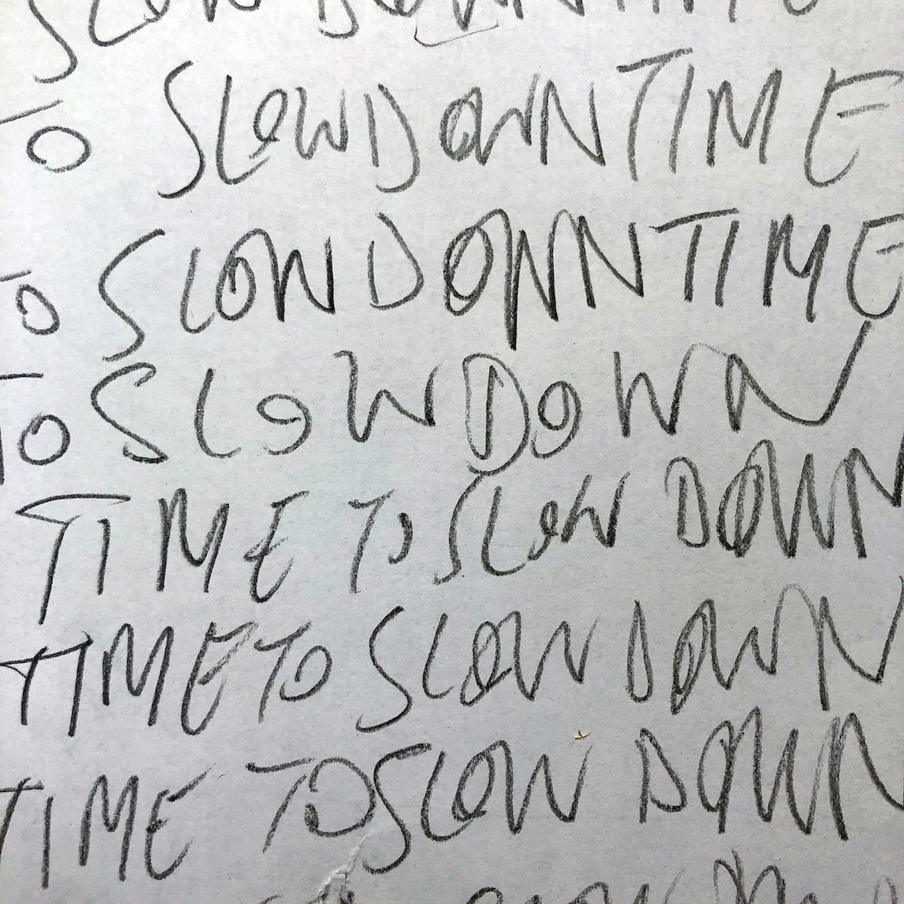 Tim Etchells, To Slow Down Time To Slow Down (audio graphic), 2020. Audio, stereo. 00:04:07.