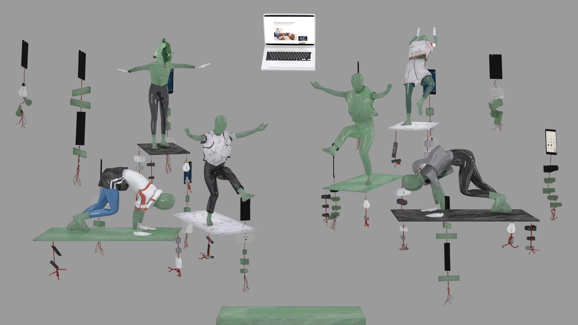 Kara Chin, Fitbit Worship, 2020. 1080p animation, 16:9. 00:02:24.