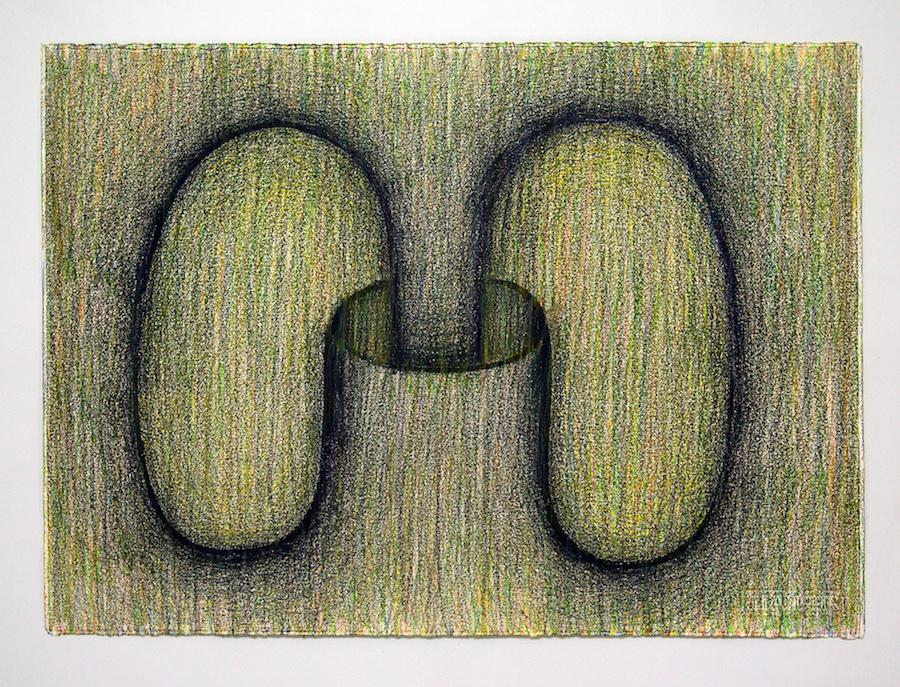 Sam Porritt, All in All, 2016. Brush and ink on paper. 70 x 50 cm.