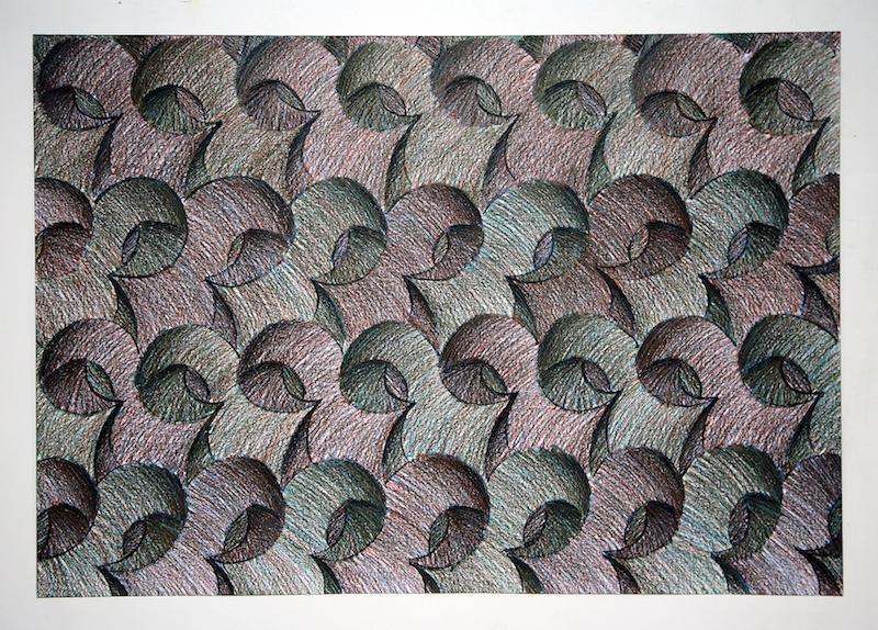 Sam Porritt, Duck Rabbit, 2017. Brush, ink and wax crayon on paper. 100 x 70 cm.