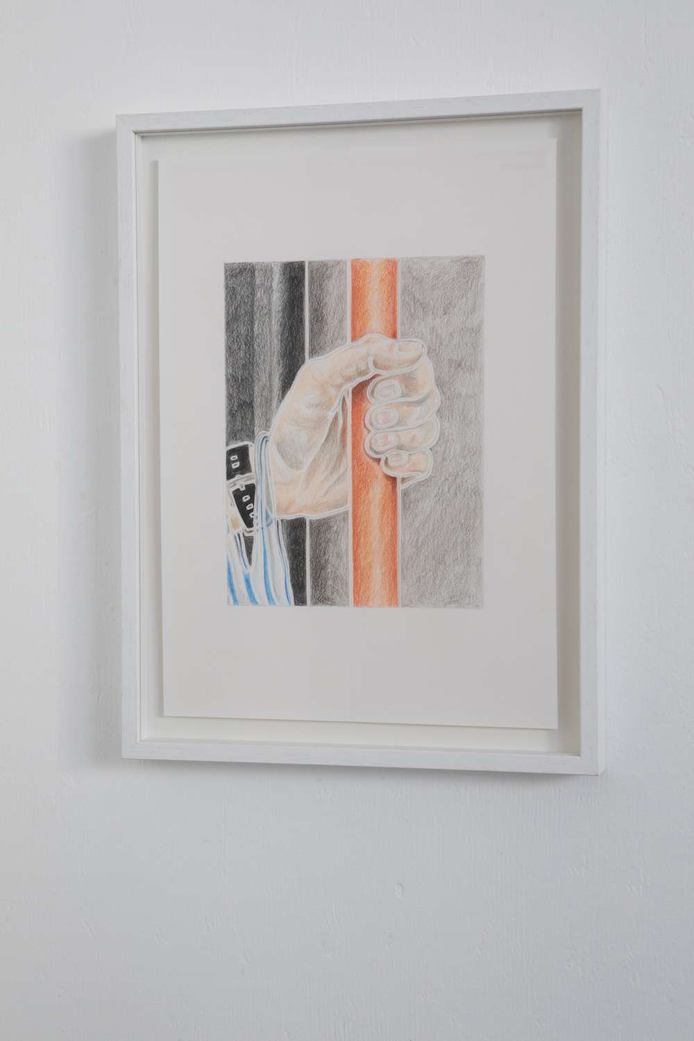 Milly Peck, A Matter of Routine IV, 2020. Coloured pencil on 130gsm acid free paper. Framed. 42 x 29.7 cm.