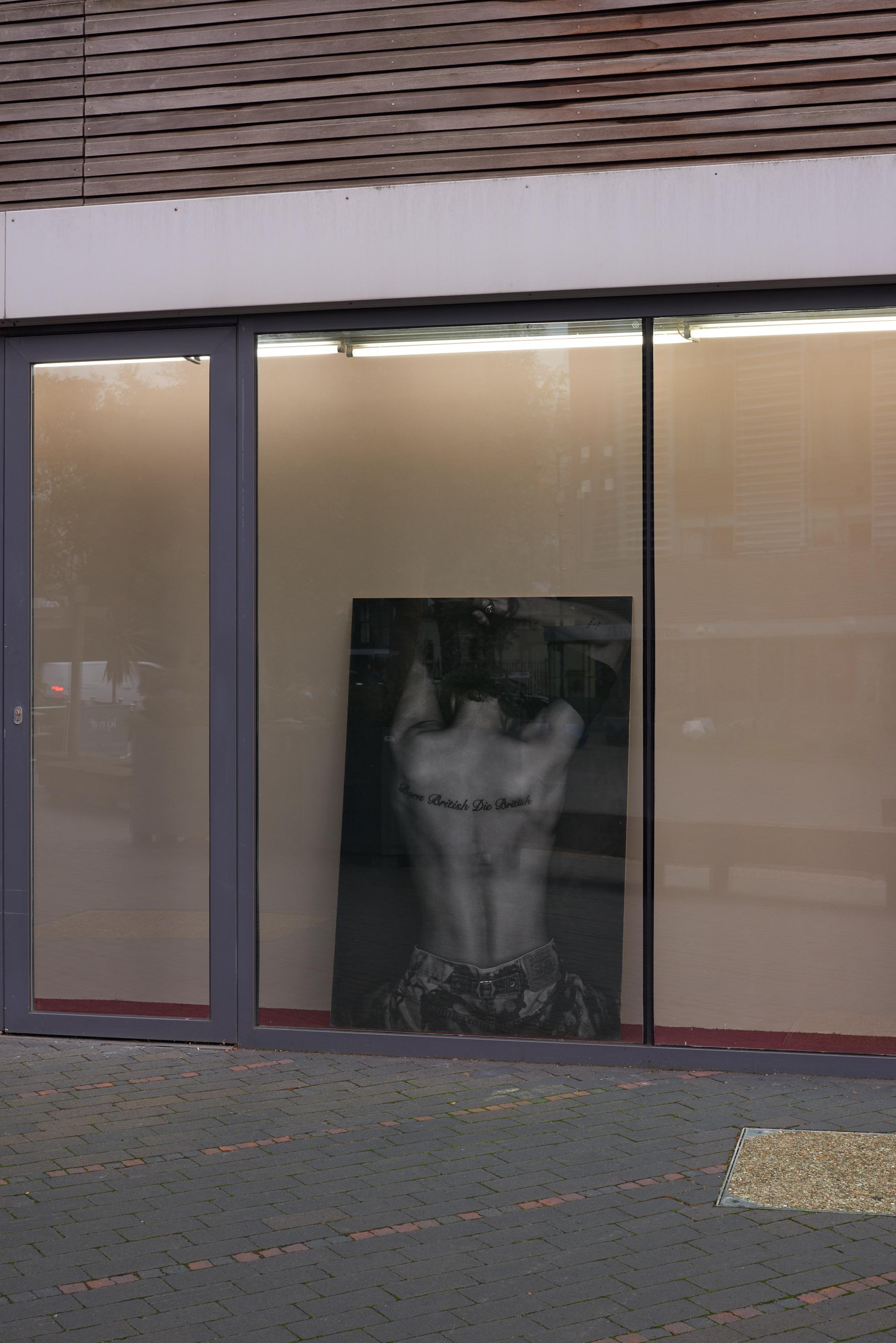 Rene Matić, Destination/Departure, 2020. Blueback photographic print mounted on MDF. Photographed by Derek Ridgers. 152 x 101 x 1 cm. Photographer: Jonathon Bassett.