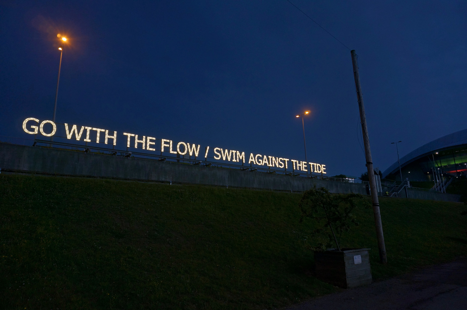 Tim Etchells, With/Against, 2018. Great Exhibition of the North, Newcastle, UK.