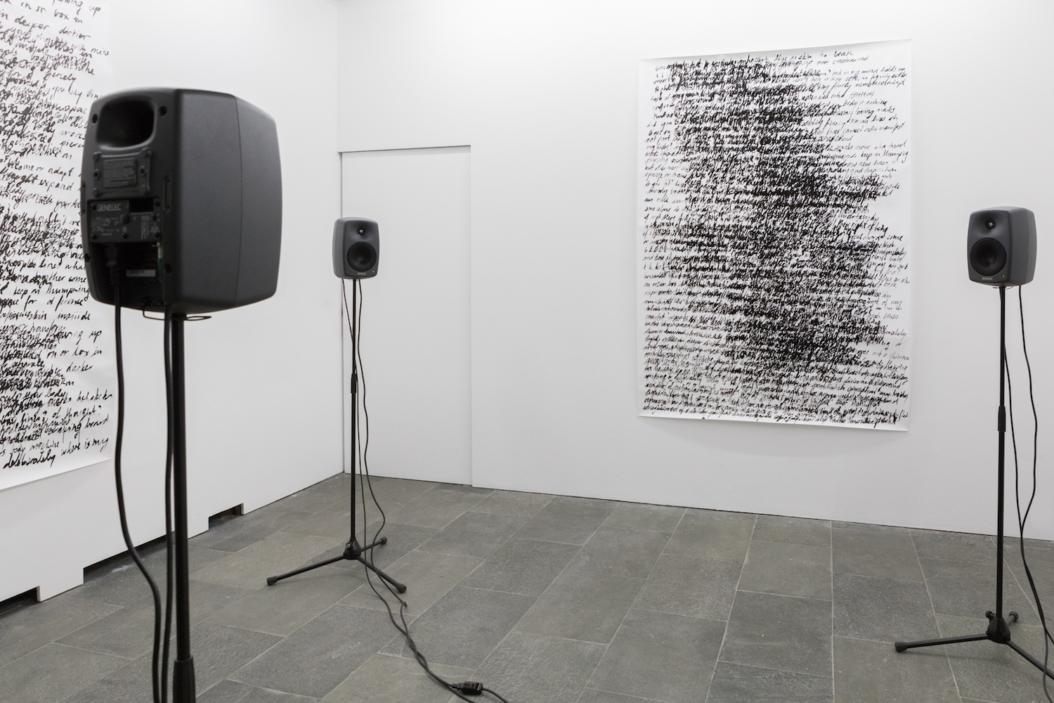 Nicole Bachmann, Rub your shoulders with mine, 2020. Installation view. TOPIC, Geneva, CH.