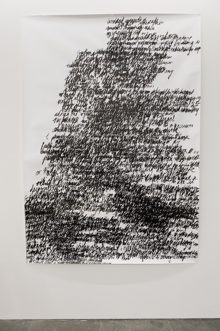 Nicole Bachmann, suspended in air, 2020. Indian Ink on paper. 150 x 210 cm.